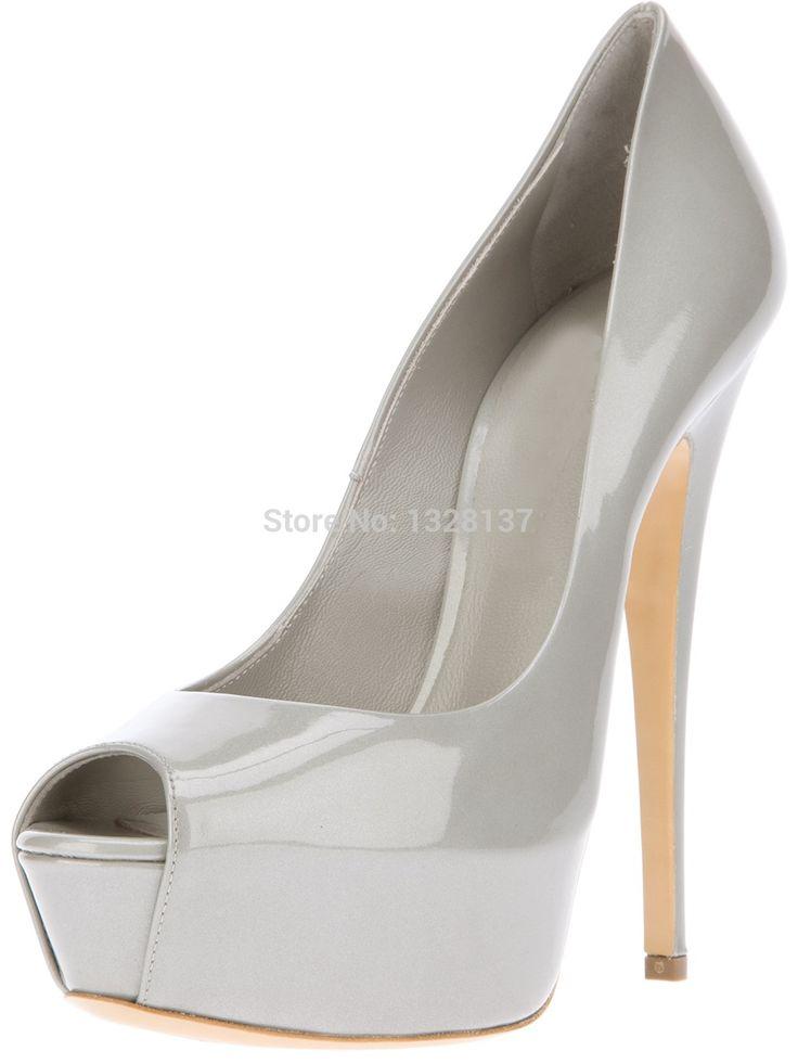 >> Click to Buy << Shoes Woman Pumps Ankle Shoes Silver Heels Pumps Zapatos Peep Toe Pumps With Solid Platform Summer Platform Block Heel Pumps #Affiliate