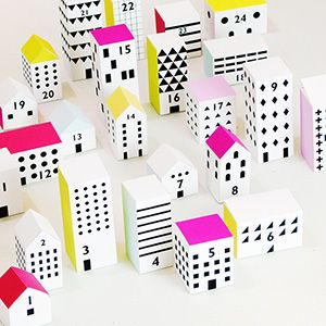 Christmas Street Advent Calendar - Love, love, love this advent calendar! Better than any I have found at a store!