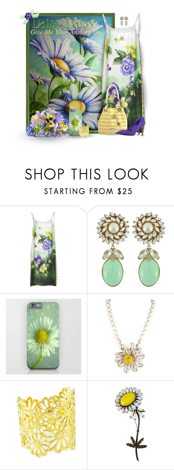 """""""♪ Daisy, Daisy, Give Me Your Answer Do ♫"""" by mimi1207 ❤ liked on Polyvore featuring Coast + Weber + Ahaus, Ciner, Miriam Haskell, Weiss and Casadei"""