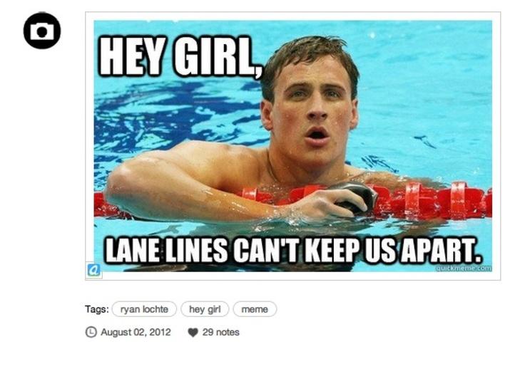 Ryan Lochte 'Hey Girl' Meme Takes The Gold (PHOTOS)