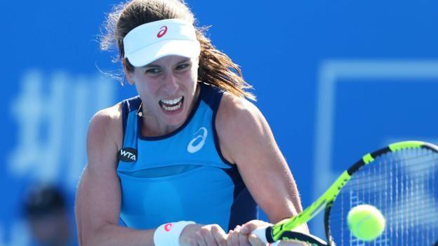 #tennis #news  Konta reaches last eight in China