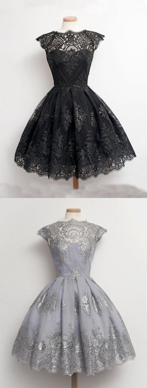 short black vintage dress, little black homecoming dress, short homecoming dress ,party dress, evening dress