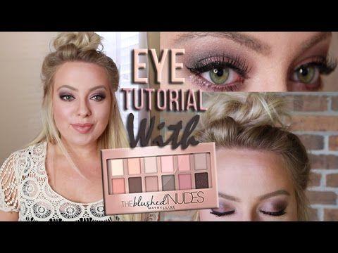 New Maybelline THE BLUSHED PALETTE Eye Tutorial | Drugstore Makeup Eye Tutorial - YouTube