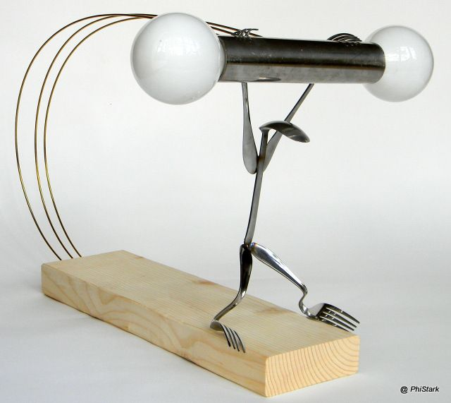 Hang-Up & Shines : H-up H-up a new, modern one of a kind side lamp