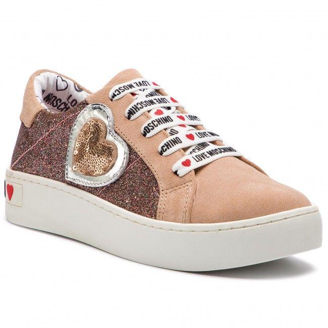 Sneakersy Love Moschino Ja15133g17ig160a Cipria Multi Sneakersy Polbuty Damskie Www Eobuwie Com Pl High Top Sneakers Top Sneakers Sneakers