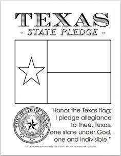Texas Flag Pledge Printable | Texas Pledge of Allegiance Printables