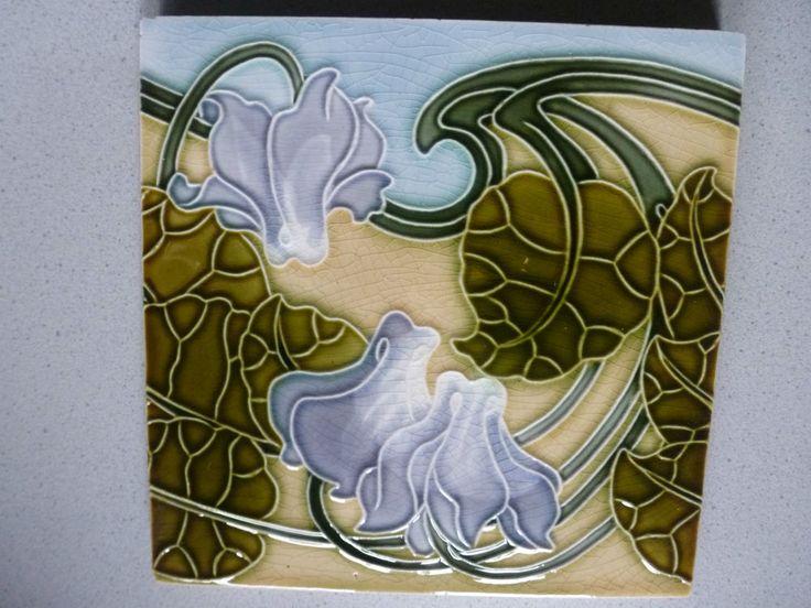 Jugendstil Fliese Kachel art nouveau tile tegel carreau Poulet