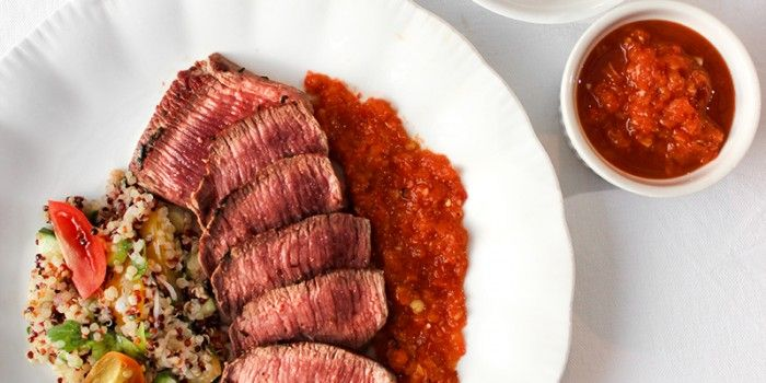 Lamb Loin Fillets with Red Pepper Salsa and Quinoa Salad | Silver Fern Farms | MiNDFOOD