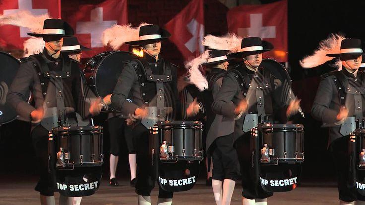 Top Secret Drum Corps amazing performance at the 2015 Edinburgh Royal Military Tattoo