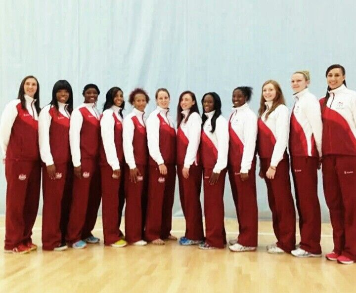 England Netball Squad Commonwealth Games 2014