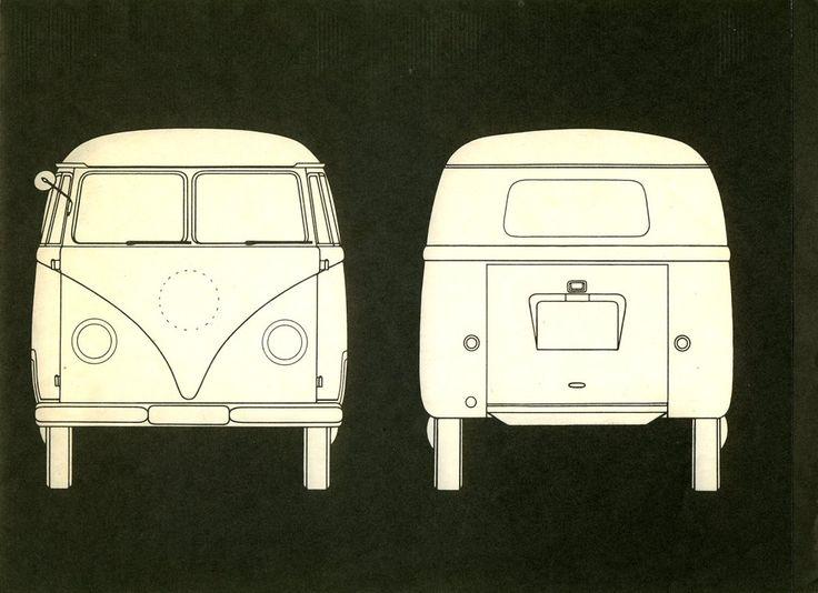 Volkswagen Van Template Templates For Applique Bus