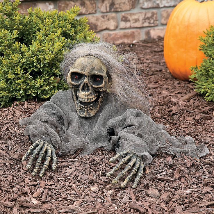 This animated Halloween decoration will give your Halloween guests a scary surprise! This zombie skeleton is the perfect outdoor Halloween decoration that will turn your yard into a scary graveyard.