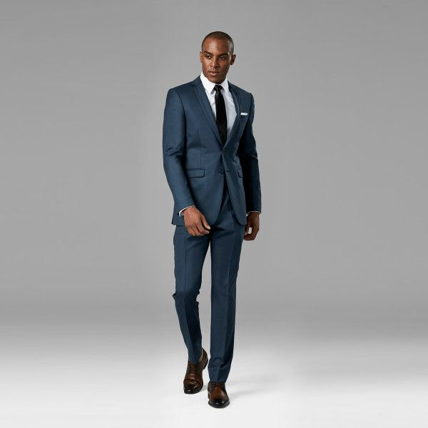 2cee5e684c8f Slate Blue Suit | Blue Wedding Suit Rental | Generation Tux We have this suit  with a light grey dress shirt. So maybe we want to go with a dusty rose  floral ...