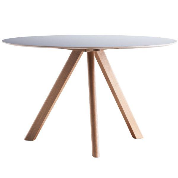 Tavolo rotondo Copenhague CPH20, 120 cm, rovere-grigio