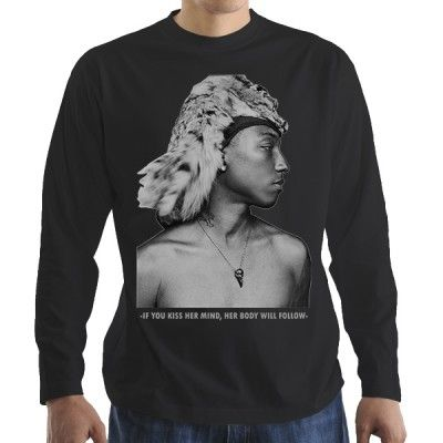 Pharrel Williams Black мъжка блуза Stedman с дълъг ръкав