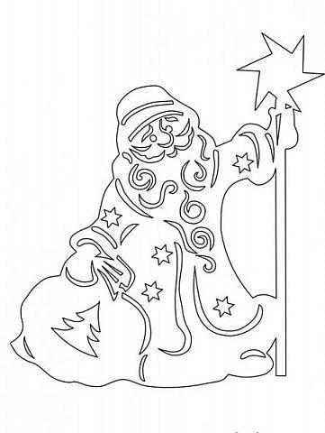Интерьер Новый год Вырезание Дед Мороз и Снегурочка в Сказочном лесу оформление окон Бумага фото 21