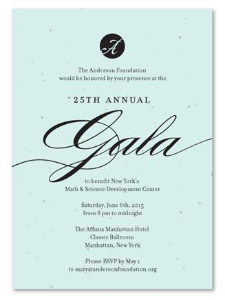 52 best Business Invitations and Seeded Paper Gala Invitations - invitation format for an event