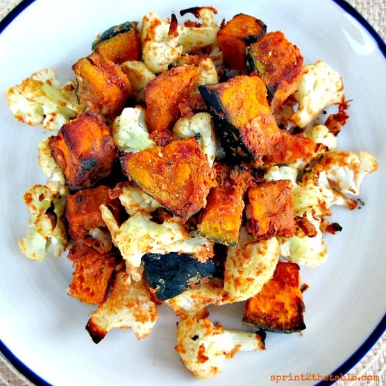 Thai Peanut Kabocha and Cauliflower - Vegan