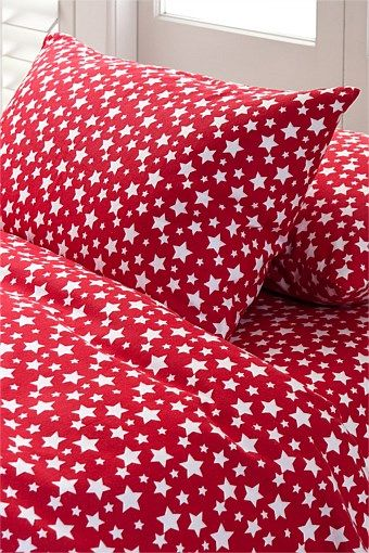 Red star flannelette sheets