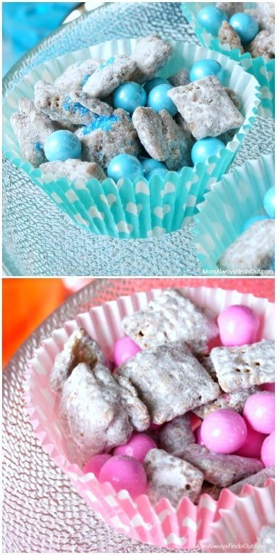 Chex Muddy Buddies Recipe for a Baby Shower (Pink & Blue) – Girl baby shower …