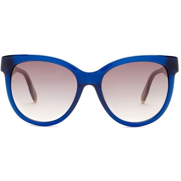 Karl Lagerfeld Women's Cat Eye Sunglasses ($50) ❤ liked on Polyvore featuring accessories, eyewear, sunglasses, shiny blue, cateye sunglasses, uv protection glasses, karl lagerfeld sunglasses, cat-eye glasses and clear cat eye glasses