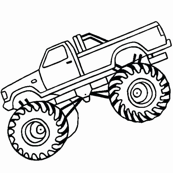 Monster Truck Coloring Book Luxury Easy To Draw Monster Truck Cwoutfitters Monster Truck Drawing Monster Truck Coloring Pages Monster Trucks