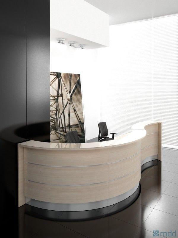 VALDE Curved Reception Desk by MDD Office Furniture | SohoMod.com