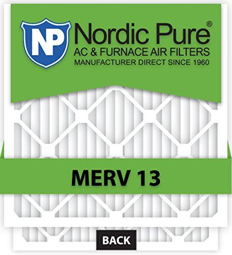 The Nordic Pure MERV 13 anti-allergen pleated air filter is the ideal filter to reduce airborne contaminants in your home or business. With each pass through your MERV 13 air filter, the air in your e...