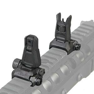 AR-15 Flip-Up Back Up Iron Sights (BUIS)      AR Pros Pro Aluminum Back-up Front and Rear Sight Set (BUIS)