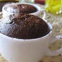 Foto recept: Eenpersoons chocoladecake in 6 minuten