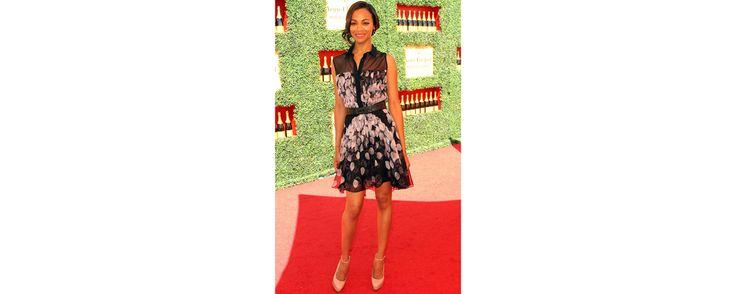 L'actrice portait une robe Jason Wu lors du Veuve Clicquot Polo Classic à Los Angeles, le 11 octobre dernier.