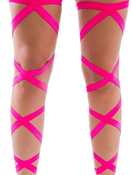 Rave leg wraps - comes in tons of different colors. And they are cheap! Get them now at www.iedm.com