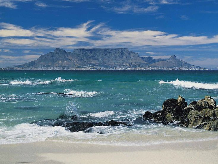 View of Cape Town from Robben Island, South Africa