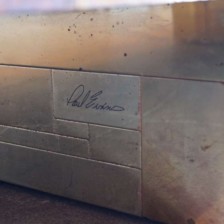 Rare Signed Paul Evans Coffee Table With A Backgammon Board image 4