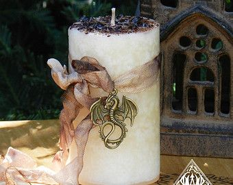 Faerie Muse . Herbal Alchemy Magick Candle by WhiteMagickAlchemy