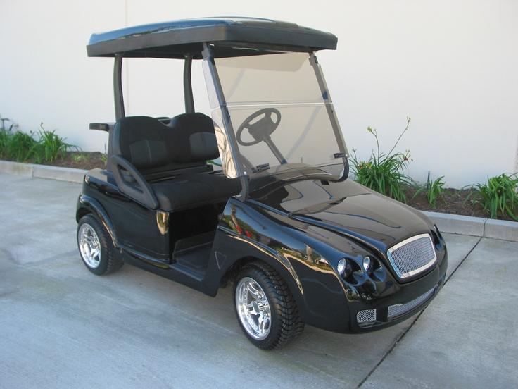 Bentley front body kit on the Club Car Precedent golf car