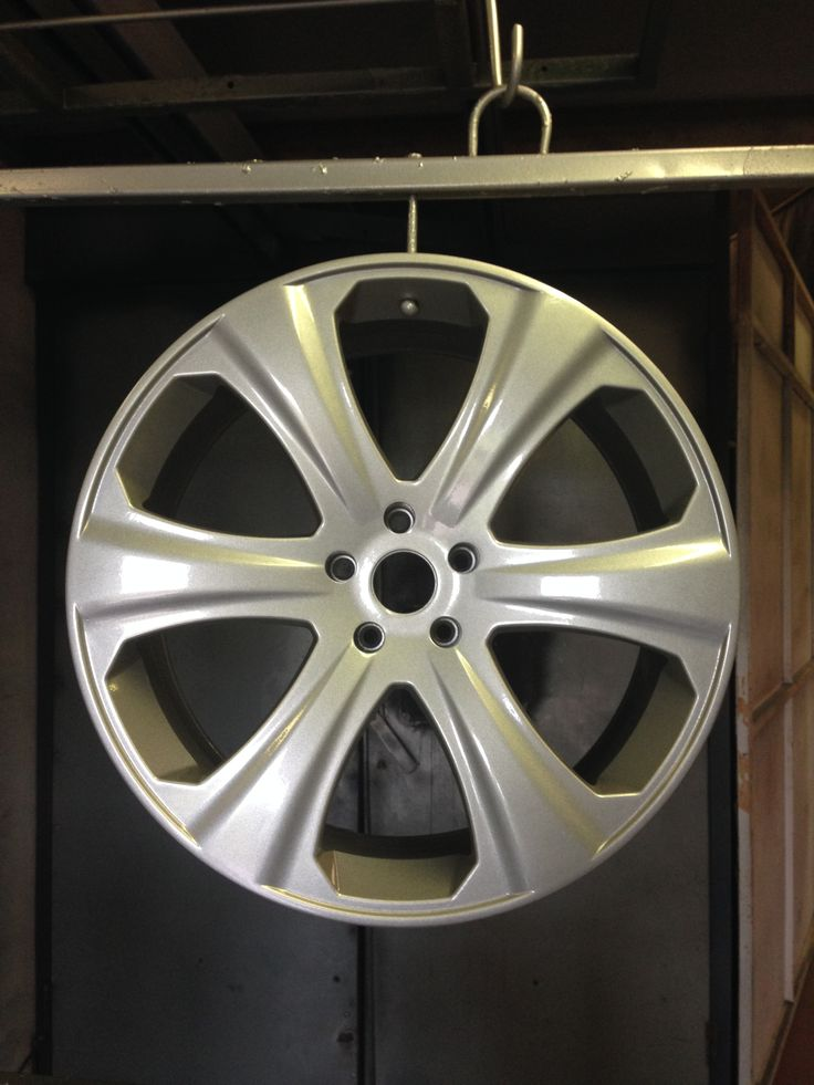 """22"""" Khans wheels done in silver by donegalpowdercoating company"""