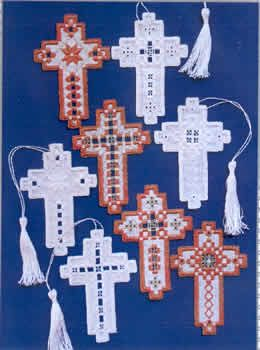 Small Crosses (Hardanger embroidery)