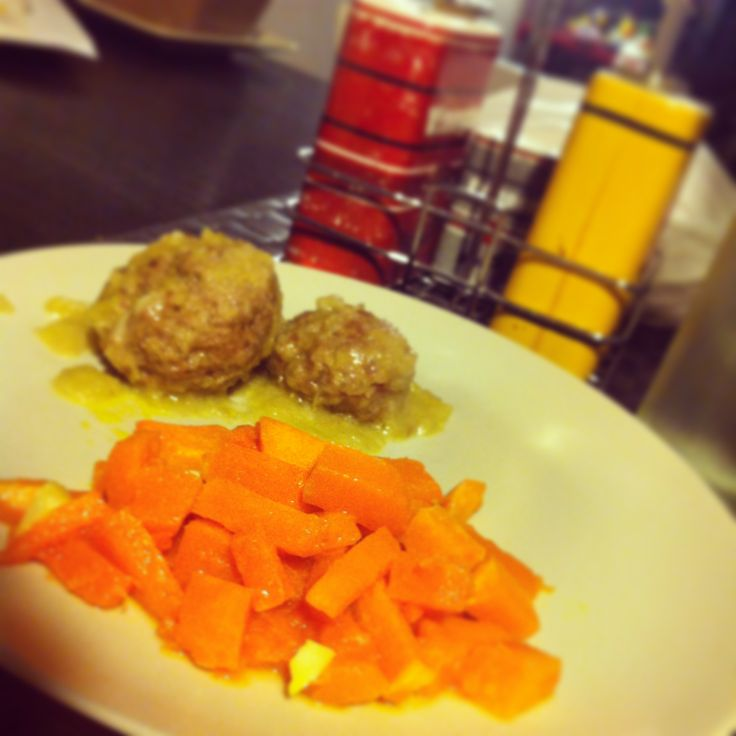 Polpette di Carne e Patate con Zucca Gialla saltata