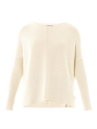 Chevron-knit wool sweater   Vince   MATCHESFASHION.COM
