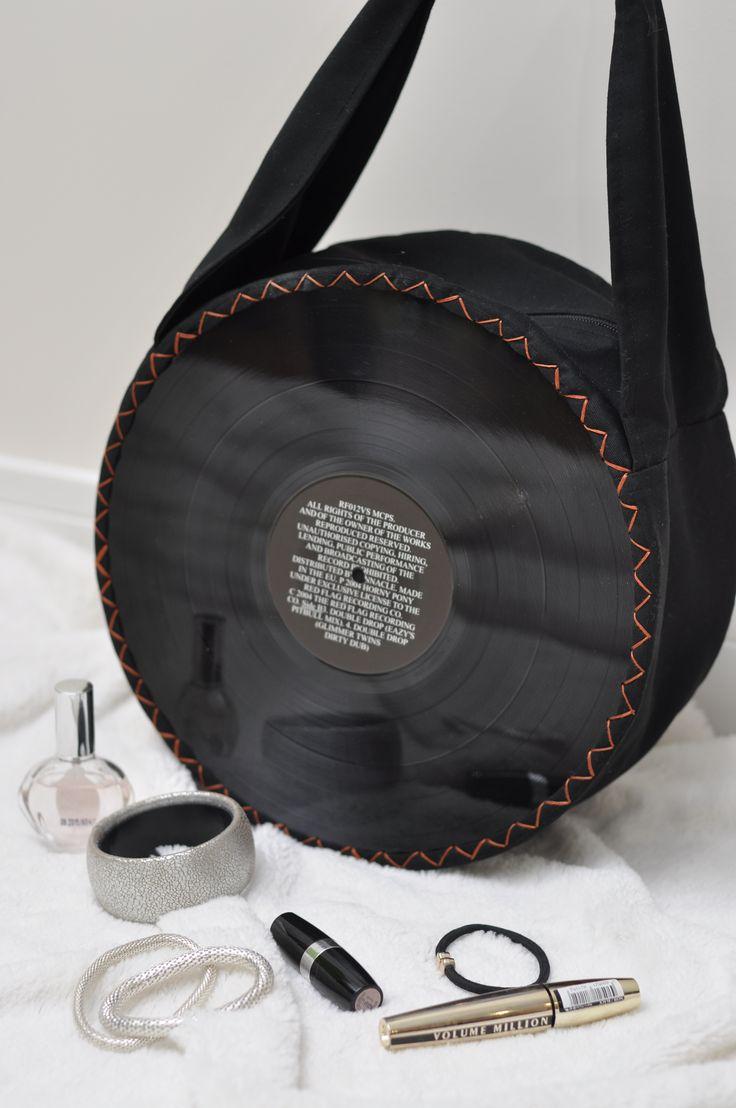 black vinyl vintage bag