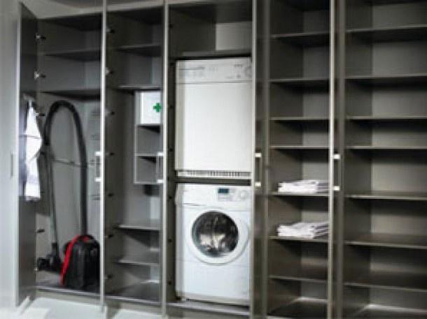 25 beste idee n over wasmachine droger kast op pinterest kleine wasruimte kleine wasruimte - Moderne wasruimte ...