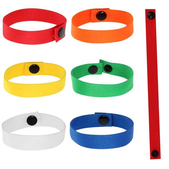 COD.LI011 Pulsera Promocional de polyester liso de 1.5 cm de ancho para sublimación, con cierre broche negro.