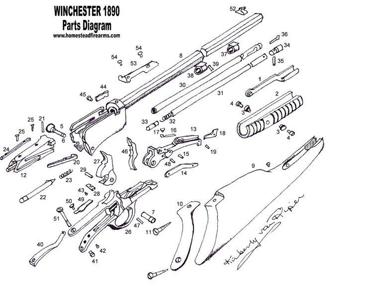 Winchester Model 1890 Schematic