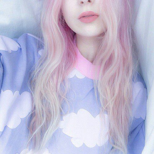 Cute Pastel Pink Hair Style