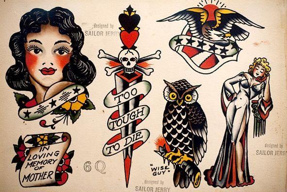 Sailor Jerry Tattoo Parlour Poster