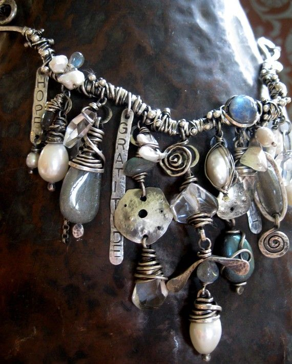 That's alot of wire work!  Pearls of the Sea necklace