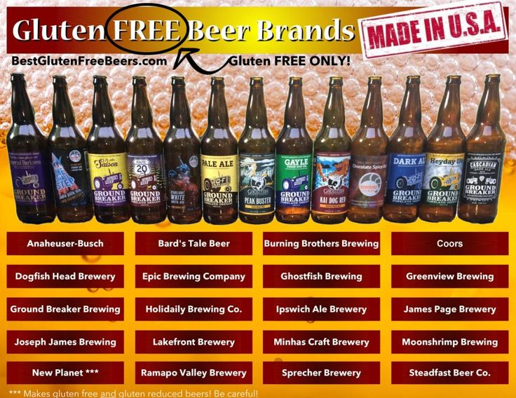 Gluten Free Beer Brands List (USA Edition) Gluten FREE Only!