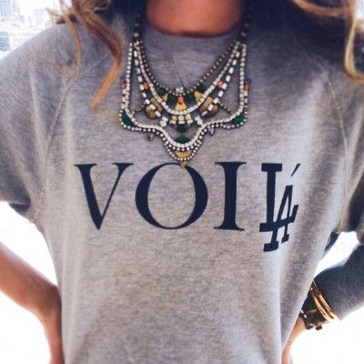 add some sparkle to your casual tee