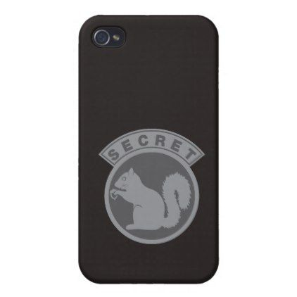 Secret Squirrel iPhone 4 Case - humor funny fun humour humorous gift idea